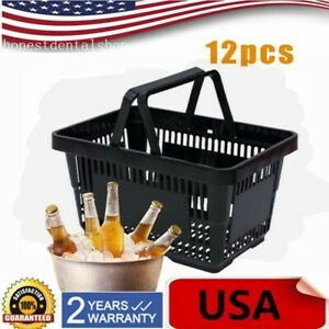 12qty Plastic Shopping Baskets Grocery Convenience Retail Store Use Durable