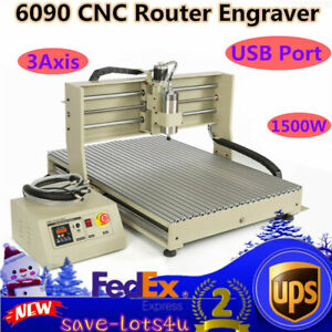 Usb 6090 Cnc Router Engraver Woodworking Advertising Milling Machine 1 5kw