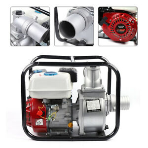 3 Portable 4 Stroke 7 5hp Gas Water Transfer Pump 60m3 h For Fire Irrigation