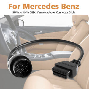 For Mercedes Benz 38pin To 16pin Obdii Diagnostic Adapter Connector Cable V5i7