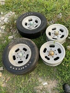 Shelby Slotted Mag Wheel And Tire Old School Vintage 6 Bolt E 70 14