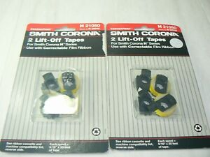 Lot Of 2 Smith Corona H21050 H59048 Lift Off Correcting Tape 2 Pack Spools