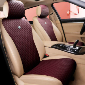Car Seat Covers Universal Leather Comfortable 2 3 In Multiple Colors