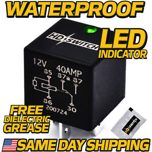 12v Relay Replaces Hella 4rd 931 680 01 Sealed Waterproof W led Indicator