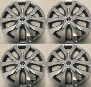 4 New 17 Inch Replacement Hubcap Fits Nissan Rogue 2014 15 16 17 18 Wheel Cover