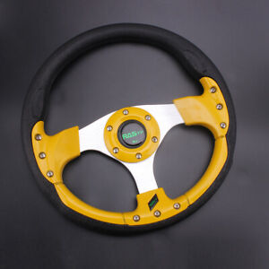 Us 12 5 315mm Steering Wheel Universal Drifting Racing Sport For Racing Blue