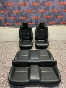 2010 Camaro Ss Oem Black Leather Front Rear Seats