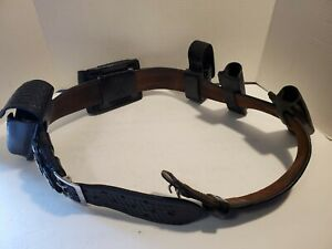 Bianchi b2 Black Leather Police Security Duty Belt W 5 Accessories Size 40