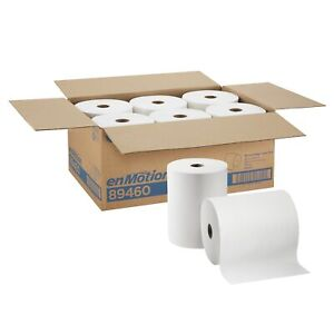 Georgia Pacific Enmotion 89460 Paper Towel Roll 10 X 800 White 1 Ply 6 Ct