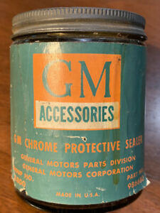 Vintage Gm Accessories Chrome Protective Sealer 8oz 986680 Fleetline Lowrider