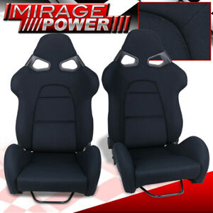One Pair Full Reclinable Cuga Style Racing Seat For Drag Track Circuit Drift