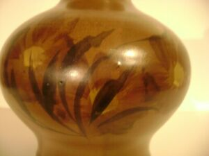 Vintage 1971 Pacific Stoneware Signed B Welsh Pottery Vase USA 5 1 4quot; Beautiful