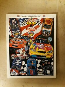 2000 Coca-Cola 600 Collector's Edition Program Magazine Lowe's Motor Speedway