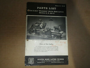 Parts List No 19 r C19 9 Inch South Bend Lathes Lathe Works Models A B C
