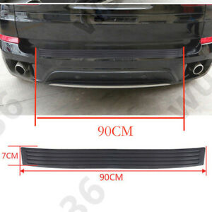 Car Rear Bumper Guard Protector Trim Cover Sill Plate Trunk Rubber Pad Kit Black