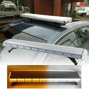 47 88 Led Universive Strobe Light Bar Amber White Emergency Beacon Warn Tow