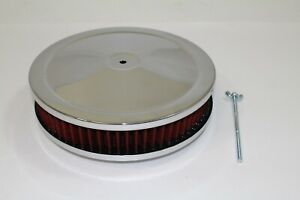 Air Cleaner 9 Chrome Round Washable Element Sbc 350 Bbc 454
