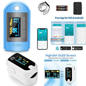 1byone Bluetooth Oled Finger Pulse Oximeter With Carrying Case Batteries Fda Ce