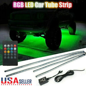 Rgb Led Light Strip Under Car Tube Underglow Underbody System Neon Lights Kit