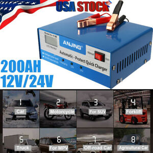 12v 24v Electric Car Battery Charger Intelligent Pulse Repair Fully Automatic