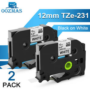 Tz 231 Tze 231 Pt d210 5pk Compatible Label Maker Tape 12mm For Brother P touch