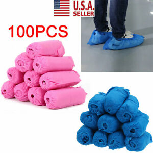 100 Disposable Wearable Anti Skid Durable Non Woven Fabric Non slip Shoe Covers