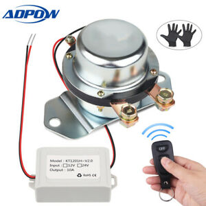24v 280amp Remote Battery Disconnect Switch Safety Kill Cut Off Switch Terminals
