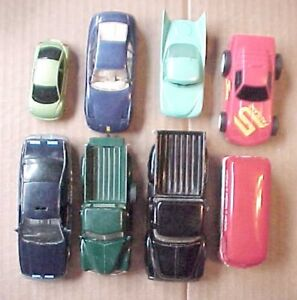 EIGHT TOY CARS AND TRUCKS AND ONE COCA COLA VAN COMBI LOT # T.A.N
