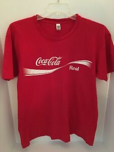 COOL VINTAGE COCA COLA T-SHIRT SIZE L LARGE -