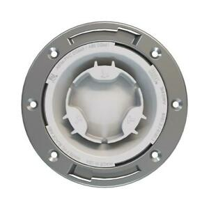 Oatey Fast Set 3 x4 Pvc Hub Toilet Flange W Test Cap And Stainless Steel Ring