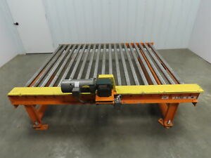 Powered Live Roller Case Pallet Conveyor 46 Fpm 68 Wide 87 Long 3ph