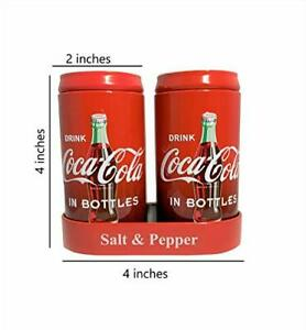 3 Pk. Coca-Cola Salt and Pepper Shakers with Caddy