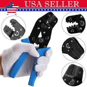 Crimping Tool Wire Connectors Ratcheting Crimper Plier Terminal For Electricity