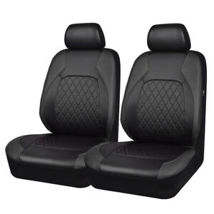Car Pass Car Seat Cover Leather Universal Airbag Compatible Fit Two Front Seat