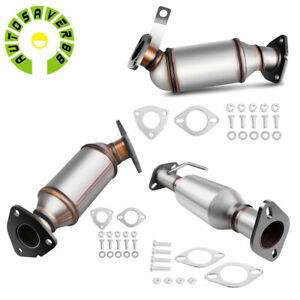 For 2009 2017 Chevrolet Traverse 07 07 Gmc Acadia 3 6l Catalytic Converter 3 Set