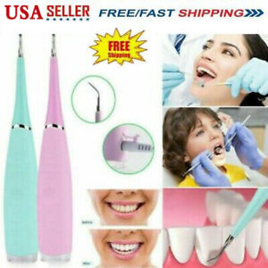 Electric Ultrasonic Dental Scaler Tooth Stains Tartar Cleaner Teeth Whiten Usa