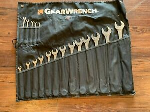 Gearwrench 18 Piece Sae Long Pattern Combination Non Ratcheting Wrench Set 81917