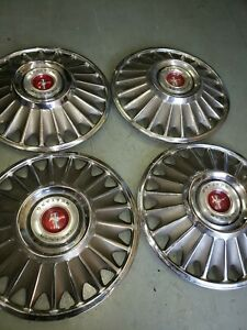 Vintage 1967 68 Ford Mustang 14 Hubcaps Set Of 4 Antique Car Auto