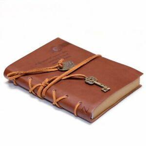 String Key Leather Bound Vintage Notebook diary Sketchbook With Unlined Pages