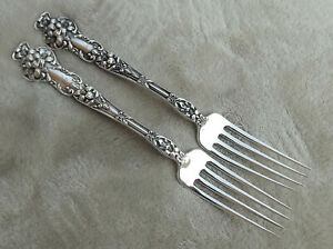 Bridal Flower By Watson 7 5 8 Sterling Dinner Fork S 1 Of 2 Avail Mono L