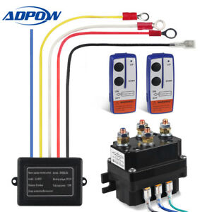 Winch Solenoid Relay 12v Wireless Winch Contactor Remote Control Fit For Warn