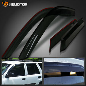 2002 2009 Chevy Trailblazer Window Visors Rain Guard Vent Shade Deflector 4pc
