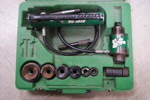 Greenlee 7464 Hydraulic Knockout Punch Driver Without Punches And Dies