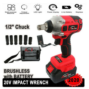 1 2 In Electric Impact Wrench Cordless Battery 18v 20v High Torque Detent Pin