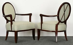 Pair Of Barbara Barry Armchairs For Baker Furniture 1990s