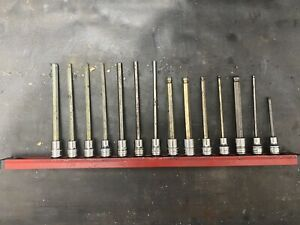 Snap On 3 8 Drive Allen Hex Socket Sets Long Metric And Sae 14pc