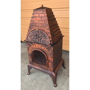 Wood Burning Pizza Oven Cast Iron Outdoor Fireplace Chef Barbecue Grill Cooking
