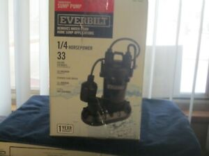 Sump Pump Submersible Aluminum 1 4 Hp With Tethered Float Switch By Everbilt