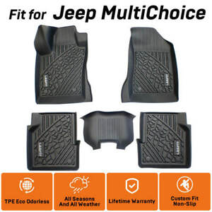 Floor Mats Custom Fit For Jeep Multichoice Front Rear All Weather Duty Odorless