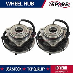 Pair Set Of 2 Front Wheel Hubs Bearings New For 2002 2007 Jeep Liberty W Abs
